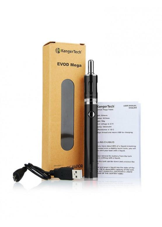 Электронная сигарета KangerTech starterkit evod mega 1900 отзыв, цена, купить, обзор, инструкция