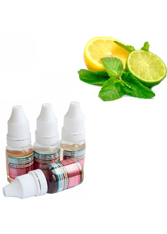 "Жидкость для электронных сигарет E-tobacco ""Лимон-Лайм"" 10 мл"