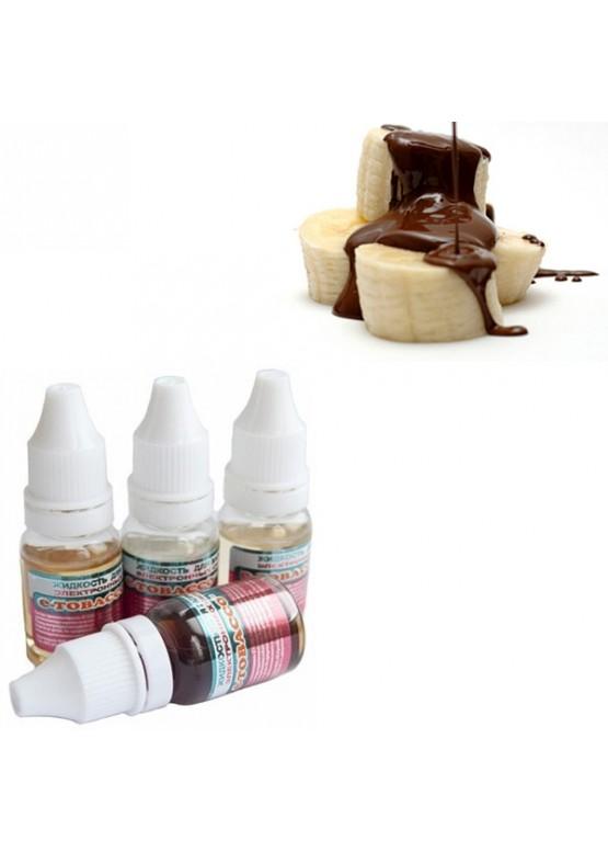 """Жидкость для электронных сигарет E-tobacco """"Банан с шоколадом"""" 10 мл"""
